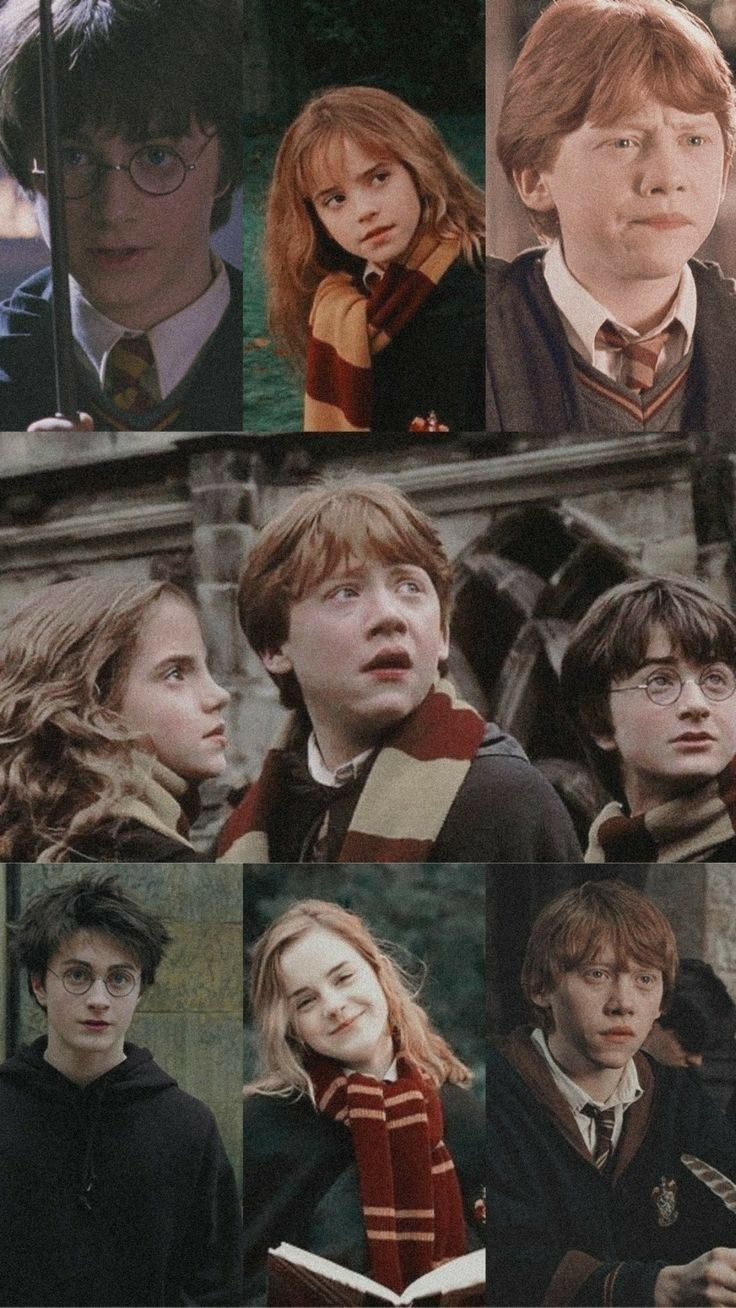 The Golden Trio Harry Hermione Ron Harry Potter Background Harry Potter Aesthetic Harry Potter Images