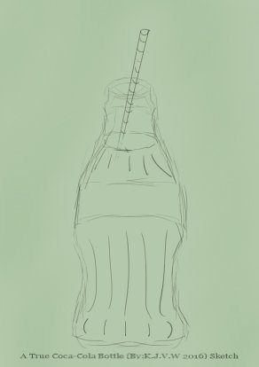 https://flic.kr/p/DpWczm | A True Coca-Cola Bottle Sketch | Partly inspired of a tutorial of drawing with markers in a book. i made this painting in about a hour.  Coca-Cola belongs to The Coca-Cola Company   I didn´t had any commercial reasons to do this, just as a tribute from a fan.