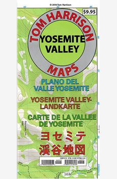 A topographic map of the Yosemite Valley floor. Scale: 1:24000  contour line every 40 ft. Printed on waterproof and tear resistant material with beautiful colors. Accurate trails and trail heads are well marked.