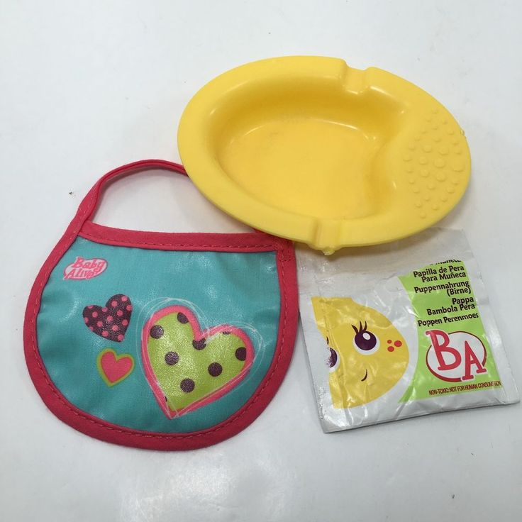 Baby Alive Doll Yellow Bowl Accessory Bib Replacement Food Packet 24 | eBay
