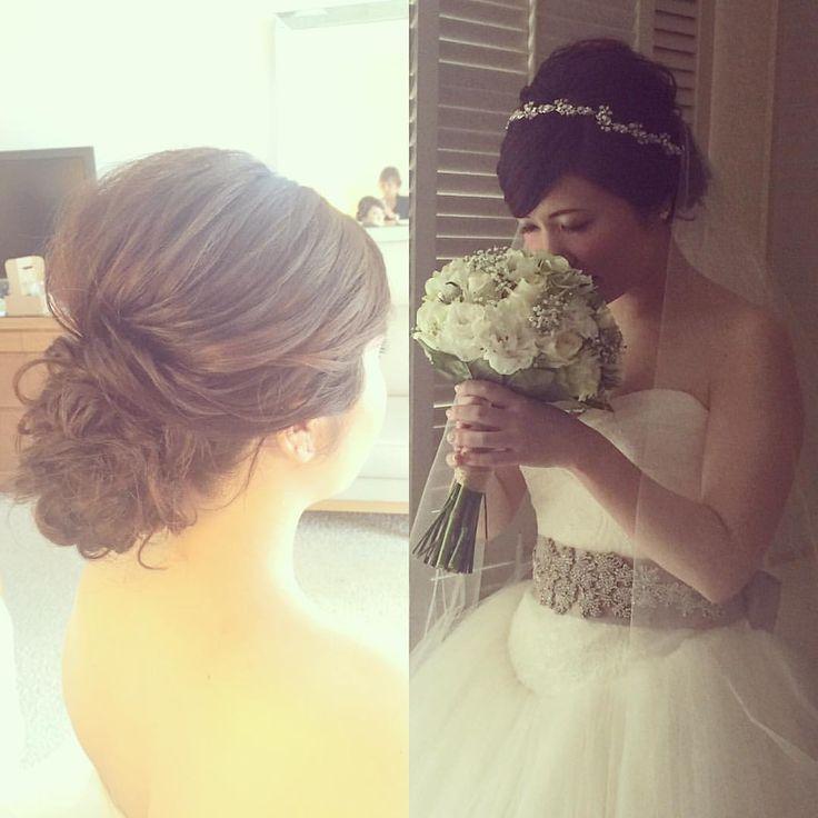 Today's bride シンプルシニヨンです♡ #kumikoprecious #hawaii #hawaiiwedding #wedding #weddinghair #bride #hair #hairmake #hairstyle #hairarrange #loose #updo #ハワイ #ハワイウェディング #ハワイ挙式 #ウェディング #結婚式 #花嫁 #プレ花嫁 #おしゃれ花嫁 #ヘアメイク #ヘアスタイル #ヘアアレンジ #ルーズ #シニヨン #シンプル