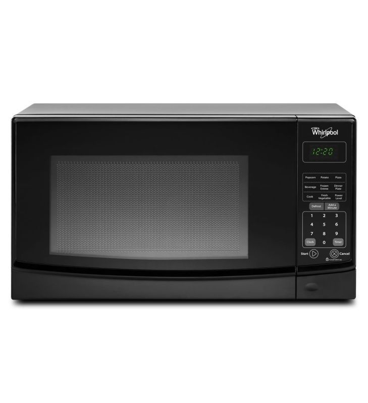 Whirlpool WMC10007A 0.7 Cu. Ft. Countertop Microwave with Electronic Touch Contr Black Microwave Ovens Microwave Countertop
