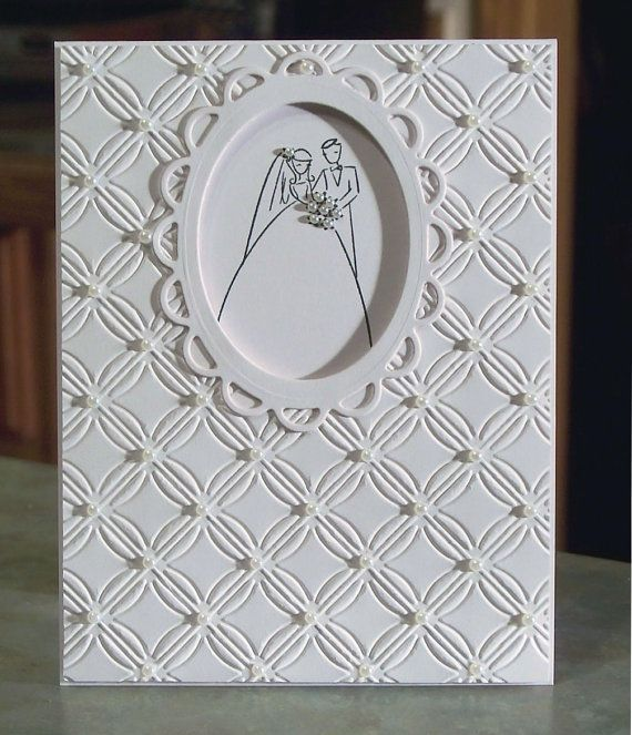 Carte de mariage Stampin meilleur de Brides & par WhimsyArtCards, $5.00
