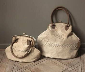 Recycled Canvas purses. Newest item on my list...
