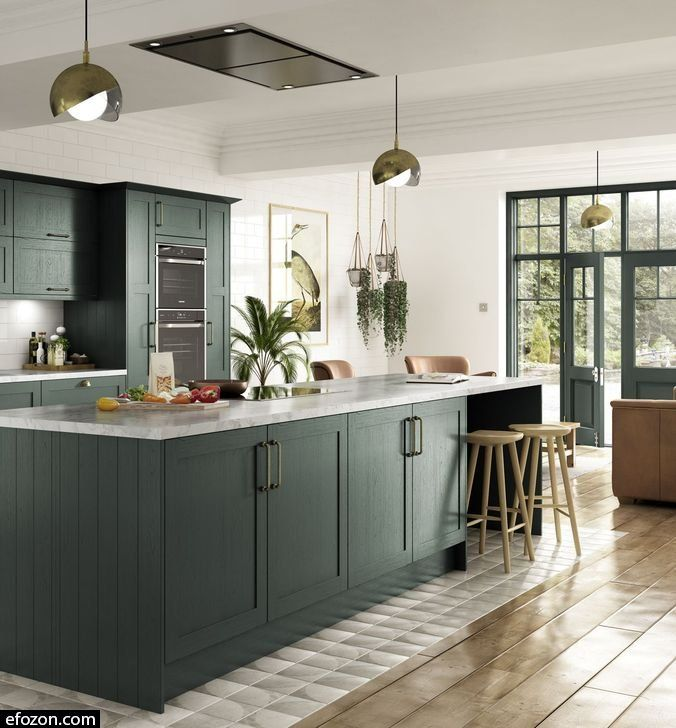 39 Stylish Open Plan Kitchen With Feature Island Ideas Image 16 Of 46 Open Plan Kitchen Kitchen Cabinet Design Kitchen Design