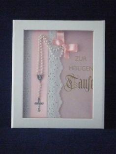 Candle & Rings - Taufbrief mit Rosenkranz-Mädchen gute idee zum verschenken