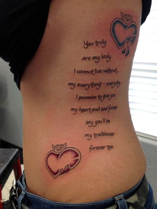 Poem Tattoo Ideas for Girls and Women (1)