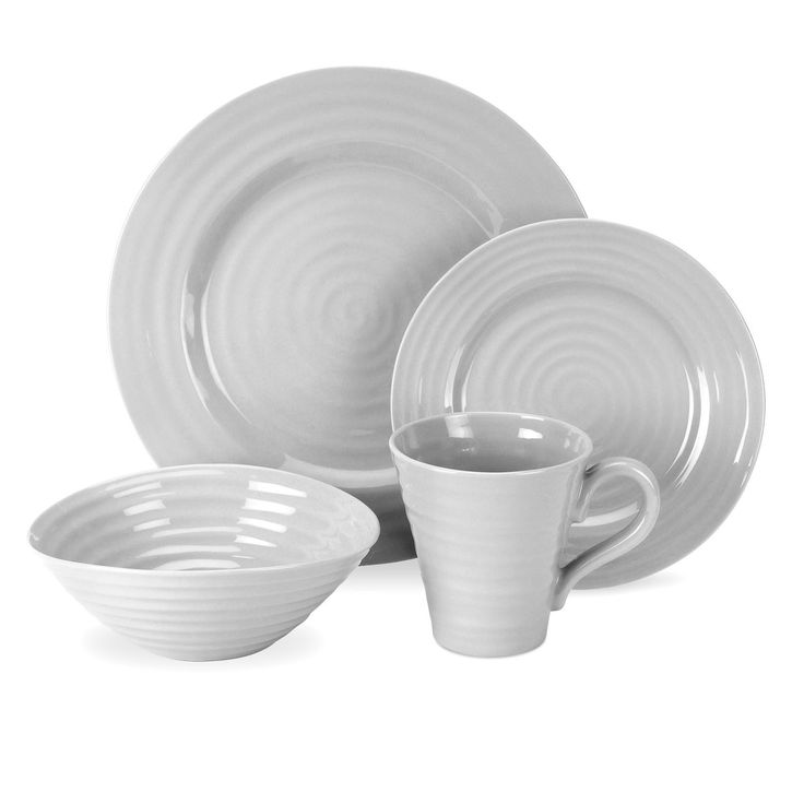 Portmeirion Sophie Conran Grey 4-piece Place Setting