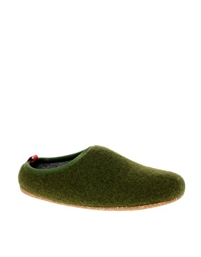 Camper Wabi Felt Slippers  £35.00    So Damn Cute! Like stepping on moss every now and then!