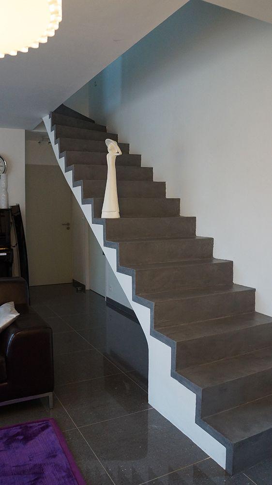 Escalier En Beton Sur Mesure Finition Beton Mineral Effet Beton Cire Conception