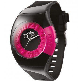 Reloj Odm Play Odm Negro y Rosa. Original diseño con cifras en 3D http://www.tutunca.es/reloj-odm-play-negro-y-rosa
