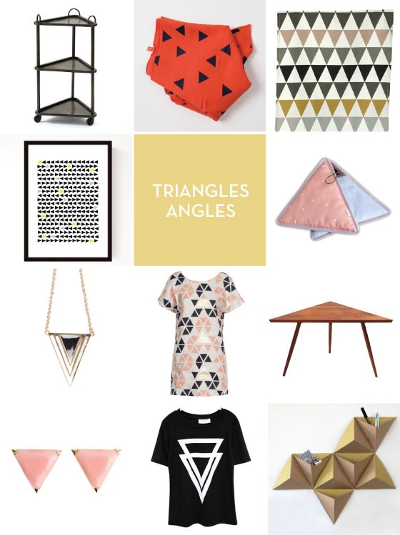 """previous pinner, """"TRIANGLES ANGLES are the new chevron"""" ????????????? I Am NOT  convinced."""