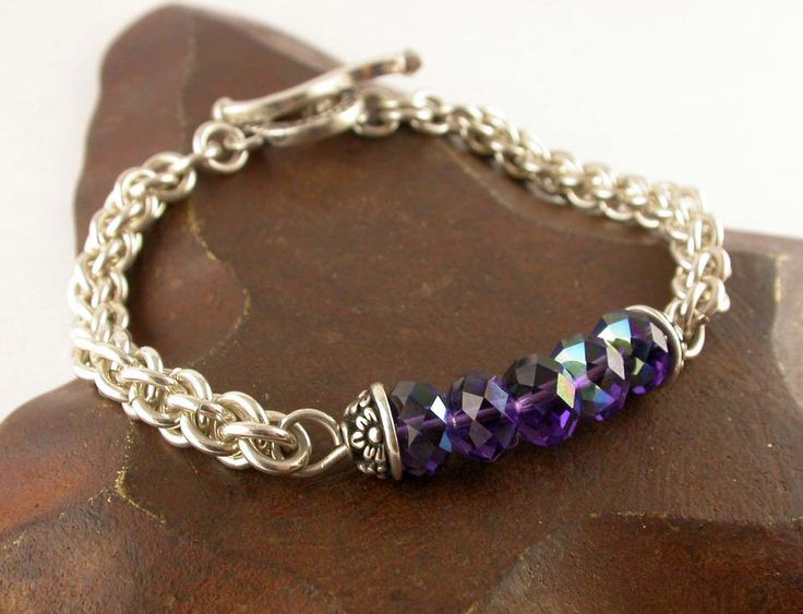Jens Pind Chain Maille Bracelet by fundamentalfindings on Etsy