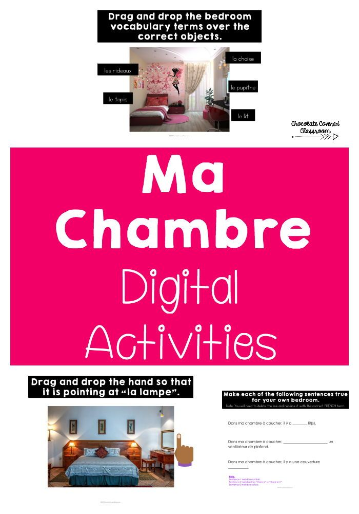 French Bedroom Digital Interactive Activities Google Classroom