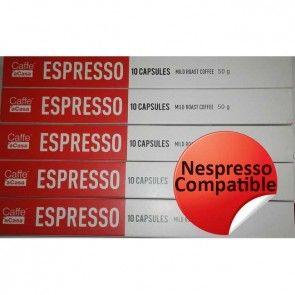 Cafe aCasa mild (100 Compatible Nespresso Capsules)-STRENGTH 6/10