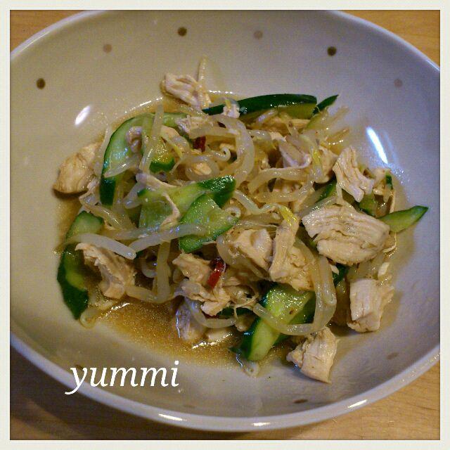 簡単で、あっさりしていて、暑い日にはピッタリだよ♪ - 84件のもぐもぐ - 鶏肉ともやしの中華風サラダ by yummi22