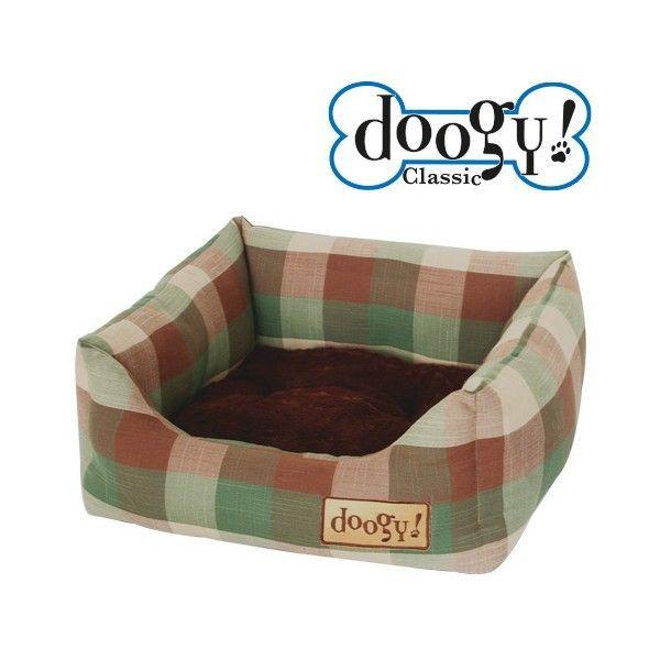 Sofa confortable top tendance Doogy pour chien ou chat, couleur scotty style écossais.