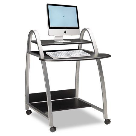Mayline Eastwinds Arch Computer Cart, 31-1/2w x 34-1/2d x 37h, Anthracite, Black