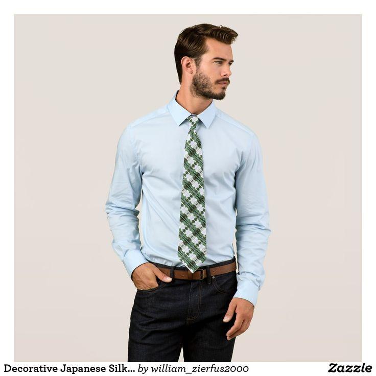 Decorative Japanese Silk Tartan Tie