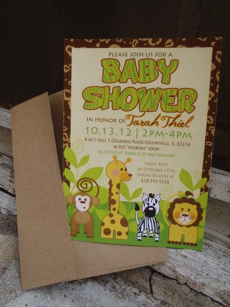 jungle themed baby shower invite 100 via etsy go to www