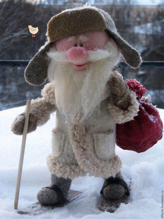 Коллекционные куклы ручной работы. Дедушка Мороз. Наталья Савинова куклы из шерсти. Интернет-магазин Ярмарка Мастеров. Дед мороз