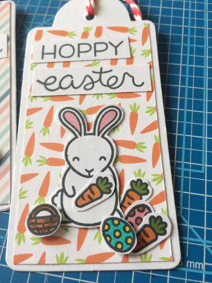 Lawn Fawn-Hoppy Easter tag - created by Eszter Wittmann