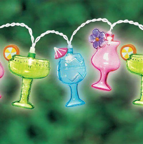 Margarita Glass Patio String Lights, 8-Feet