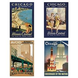 Poster Plus Products - Best of Chicago Notecard Set AssortmentSets Assorted, Chicago Posters, Chicago Notecards, Notecards Sets, Products