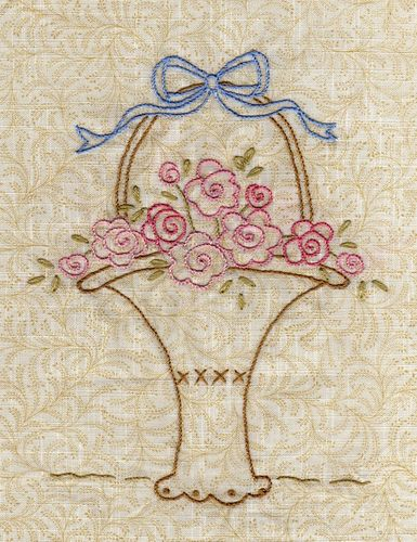 Sweetheart Roses basket by Marci H, via Flickr