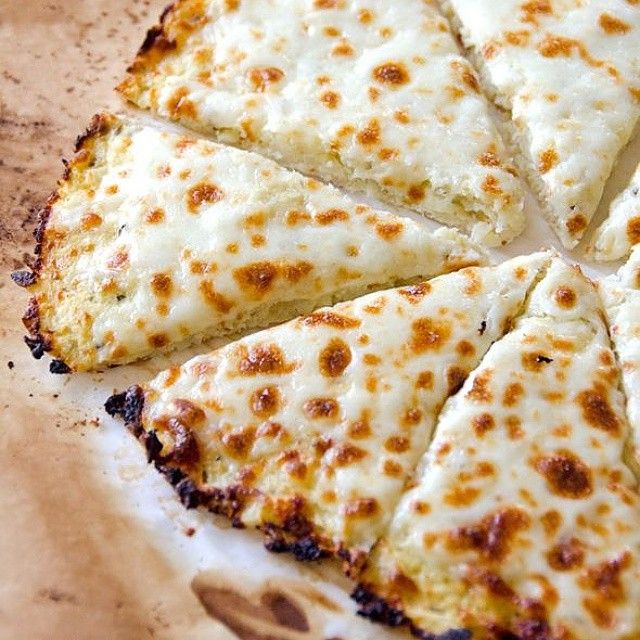 """Cauliflower pizza from @ifoodreal!  Ingredients  1 head cauliflower 7 - 8"" wide 1 egg, large 1/2 cup Parmesan or Mozzarella cheese, grated/shredded & not…"""