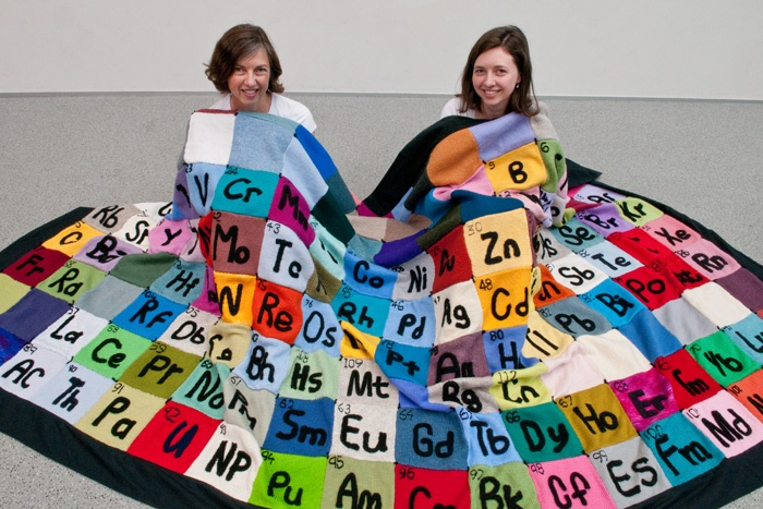 These people knit the Periodic Table for the International Year of Chemistry.