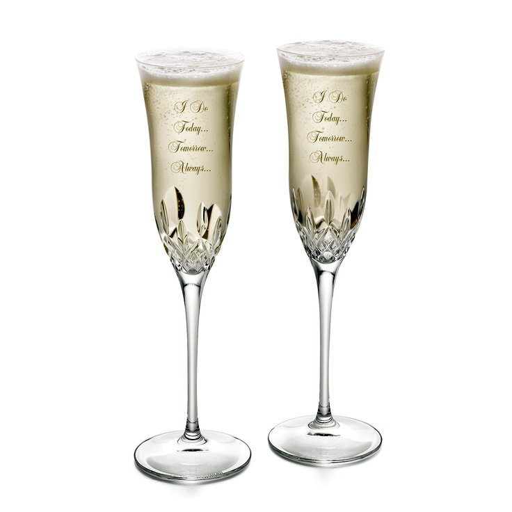 11 best crystal champagne flutes images on pinterest - Petite flute a champagne ...