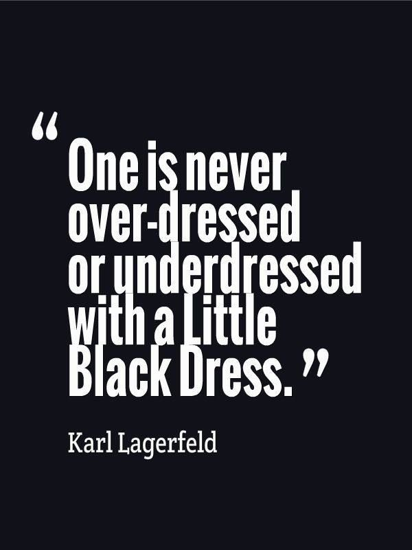 Karl Lagerfeld obviously knows what he's talking about...