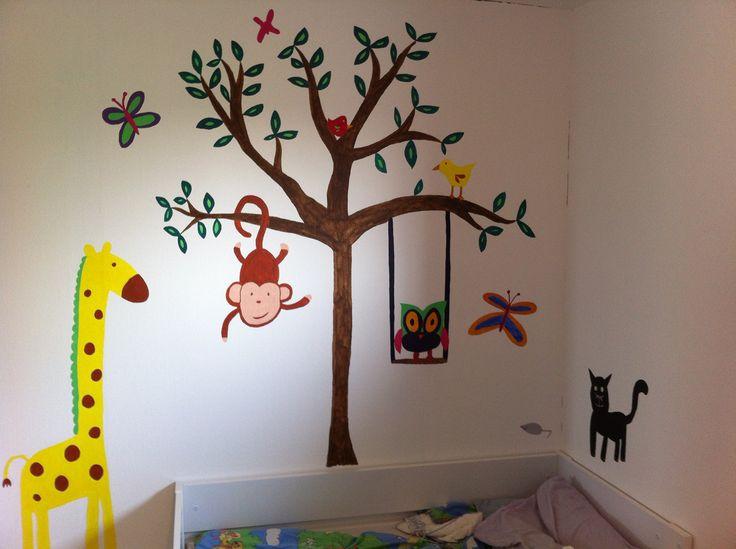 Vægmaleri på min datters værelse