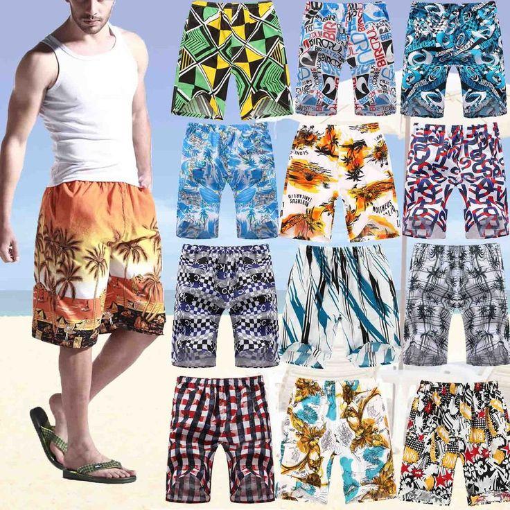 Various Men's Beach Pants Swim Surf Trunks Board Shorts Coconut Palm Beachwear US $4.93