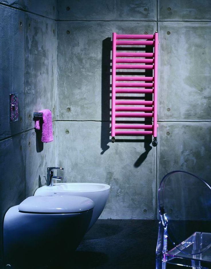 Purmo Java radiator in modern bathroom