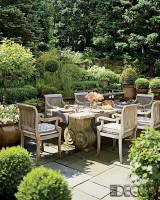 lush garden patio