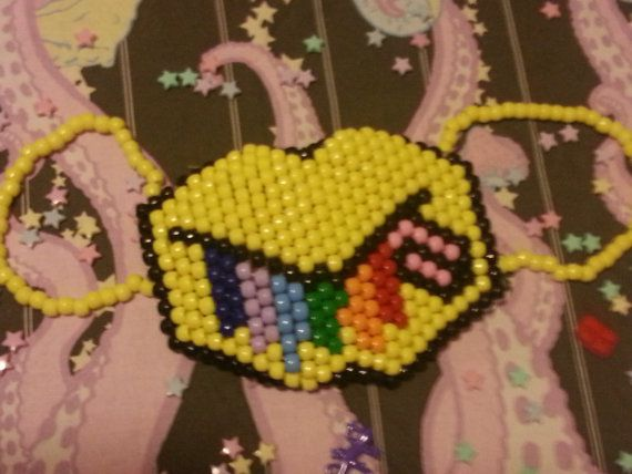 Rainbow Vomit Kandi Mask by PandaFuzz on Etsy, $20.00