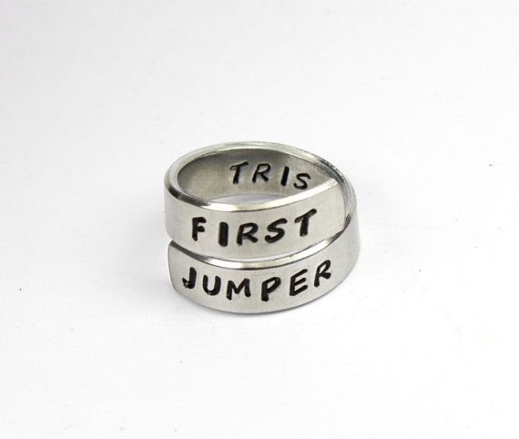 First Jumper Ring, Divergent Inspired Jewelry, Dauntless The Brave, Custom Stamped Ring, We Believe In Ordinary Acts Of Bravery