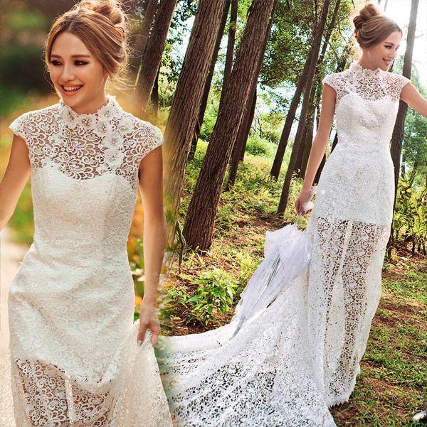 robe de mariée de princesse de  devant courte arrière longue 1807