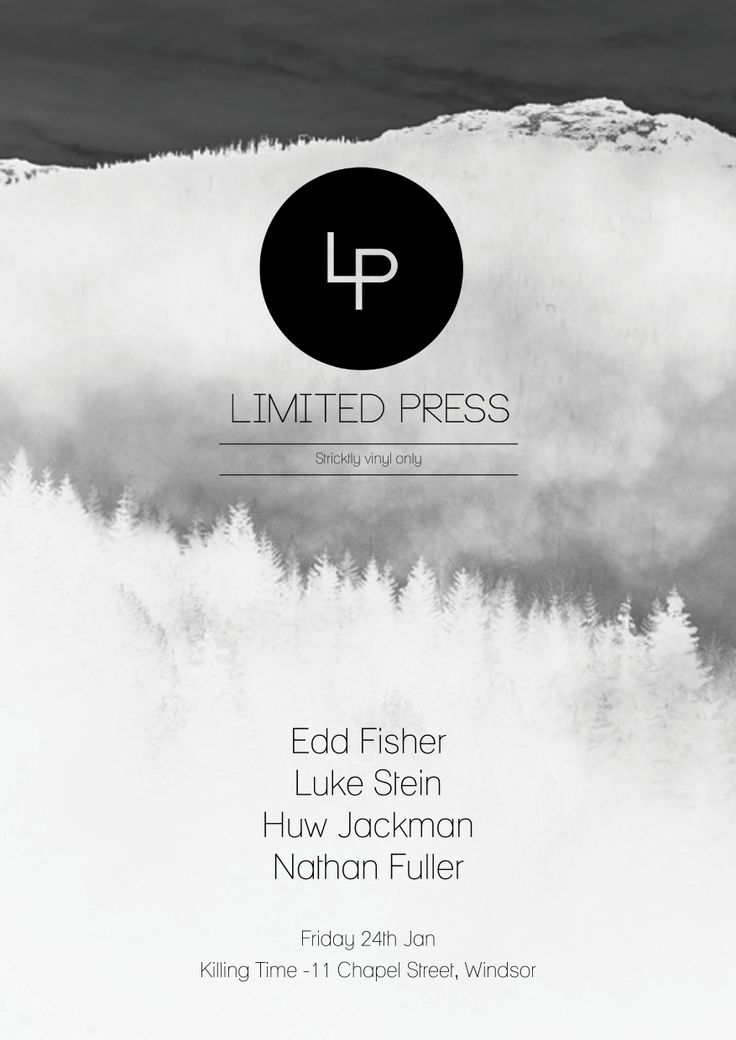 'Limited Press' poster design