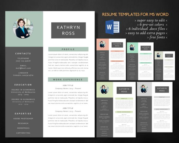 attractive word resume templates free download 2017 modern photo creative market microsoft for college students - Attractive Resume Templates Free Download