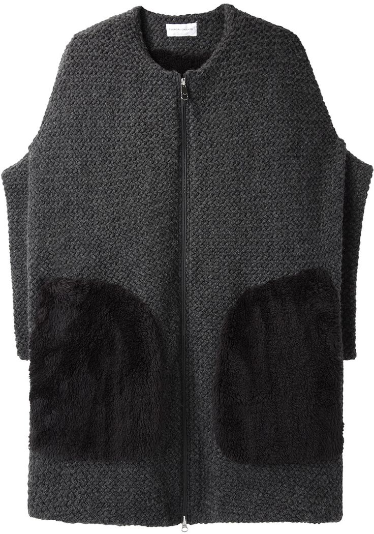Fur Pocket Knit Jacket