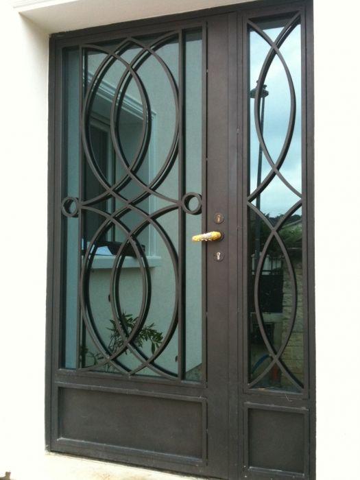 195 best porte de s curit en fer forge images on pinterest iron doors entrance doors and. Black Bedroom Furniture Sets. Home Design Ideas