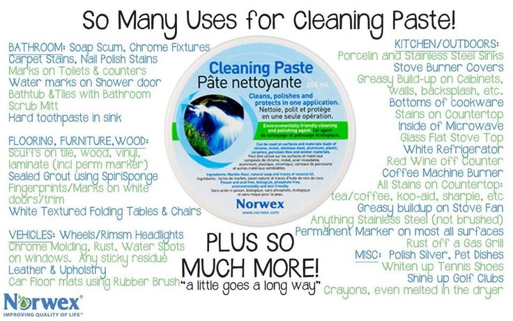 Uses for Cleaning Paste :) Questions? Comments? Want to order? sarah@cleanwithpurpose.com