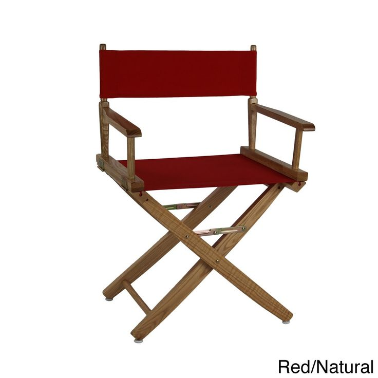 American Trails Extra-Wide Premium 18-inch Director's Chair (Red - Natural Finish) (Canvas)