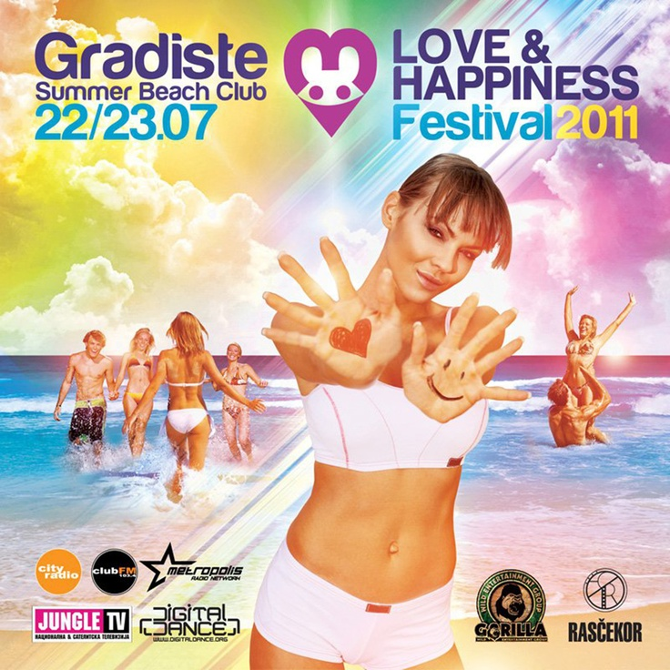 Flyer for Love & Happiness Festival 2011