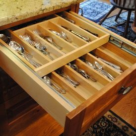 rustic cabinet and drawer organizers by Sterling Kitchen & Bath
