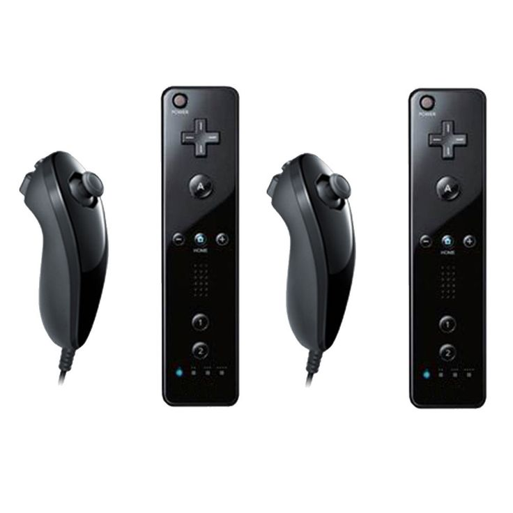 2 x Built in Motion Plus Remote Controller And Nunchuck For Nintendo Wii&Wii U #UnbrandedGeneric