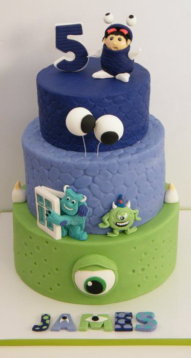 Monster Inc Cake (made with permission from original designer!)
